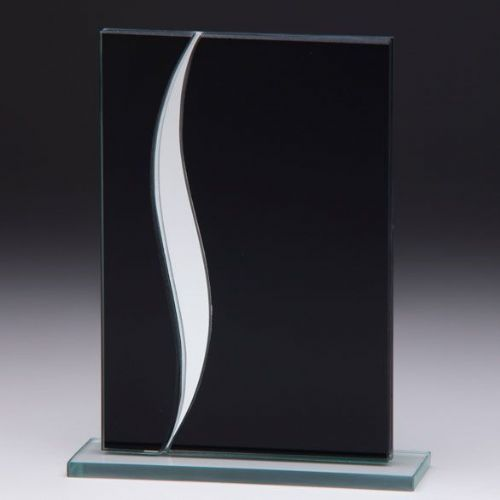 Spirit Mirror Glass Award Black & Silver 165mm